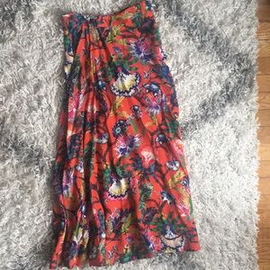 H&M long floral skirt